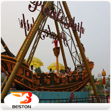 Theme park thrilling rides pirate ship for kids and adults