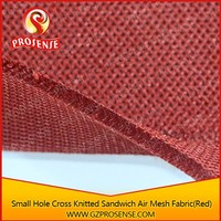 Small Hole Cross Knitted Sandwich 100 % polyester air mesh fabric