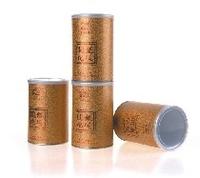 Printed cylinder paper tea box