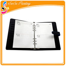 Fashional designed spiral notebook with color pages