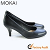 MK035-10-Black Brand women ladies shoes in china, middle heel shoes, ladies shoes price