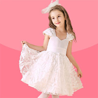 Unique Collar Type White Lace Superior Quality Western Party Wear Dress Dress Designs Teenage Girls