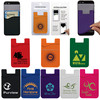 Cell phone sticker card holder 3M sticker adhesive silicone credit id card pouch