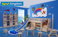 childre play slide beds, kids shape bed, twin bed