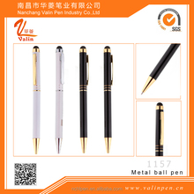 Hot sale stylus touch metal high quality ballpoint pen for bussiness man or promotional