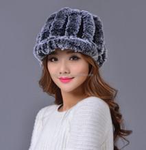 Ladies high quality famous brand hat caps fashion children mink fur hat