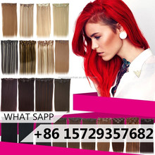 ZSY unprocessed virgin remy two tone clip in hair extensions