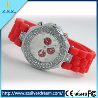 fashion silicone Geneva watch hot geneva wrist watch