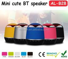 Best price amplifier wireless microphone speaker, handsfree talking round shape mini portable speaker