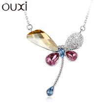 Drogonfly shape OUXI necklace made with Swarovski Elements 10929