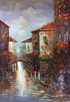 Famous Artists Hand Painted Venice Wall Art Painting, Canvas Oil for Wall Decoration