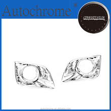 Chrome edge trim, car accessory chrome fog light cover for Toyota Land Cruiser Prado J150