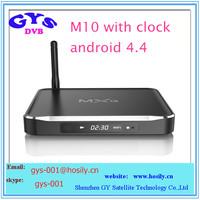 quad core android tv box s812 dvb-s2t M10 MXQ S812 TV BOX 2GB ram 8GB rom Quad Core KODI TV BOX with clock display