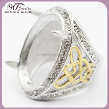 2015 Indonesia 316L rings stainless steel ring stone model in stock