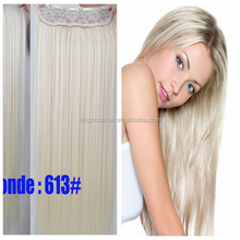 white blonde color wholesale indian remy hair flip in halo hair extensions on sale