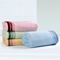 Kids soft environmentally-friendly bamboo towel wholesale Plain dyed organic bamboo face towel GVBM3007