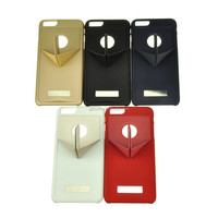 The new product Originality bracket leather case for iphone 6 , for samsung galaxy s4 case
