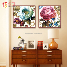Home decorative panorama picture rose flower painting designs