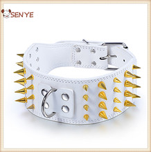 Cool Spiked PU Leather Dog Collars Pet Dog Heavy Dog Collar