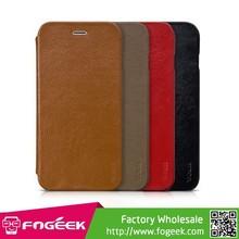 HOCO Premium Collection Genuine Leather Folio Flip Case with Stand for iPhone 6 Plus