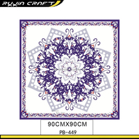 2015 Custom Men's White Silk Scarf For Painting