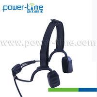 Fm auto scan radio with earphone Bone Conduction Headset PTE-570 Receiving Radio Communications Through the Facial Bones.