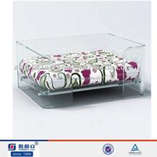 Handmade wholesale custom transparent acrylic large dog bed for two dog