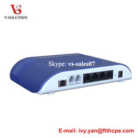 voice home gateway Unit 4 GE ONU with router 2 fxs port