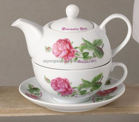 4pcs Russian flower design porcelain tea set pot