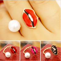 Pearl ladies finger gold ring design sex ring toys for woman