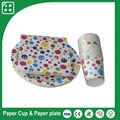 Personalizado impreso servilleta de papel, taza de papel, desechables parte de platos de papel