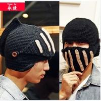 knight helmet hat free knitted pattern