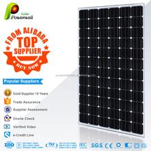 Powerwell Solar Mono 200W With CE/IEC/TUV/ISO/INMETRO/CEC Approval Standard Solar Energy