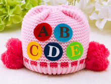New design baby hat, knitted hat for newborn baby, lovely baby hat sticked with letters