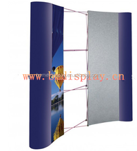 Spring pop up wall display stand, 3*3 and 3*4 curve or straight pop up stand