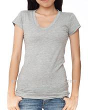 2015 Summer bulk cheap price plain women o neck short sleeve blank t-shirt,Women blank t-shirt