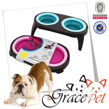 Dog collapsible Water Bowl / Raised Dog Feeder