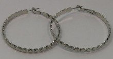 Lincoln's Birthday Gift custom-made service Rhodium silver Big Hoop Earring