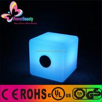 Cube speaker light cube seat outdoor smart speaker rgb colorful speaekr furniture speaker manufacturers