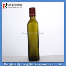 Longrun alibaba china hot new product for 2015 520ml amber oil glass bottle olive oil bottle china supply