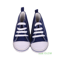 New Model Canvas shoes Baby Bule And Red Colors 0 To 24 Months Manufacturer