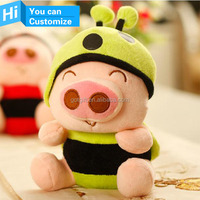Sample customize corporate identity promotion mascot toys gift plush stuffed animal doll toys manufacture in china