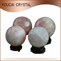 Home or Office decoration Pure Natural Rose Quartz Crystal Balls Pretty Pink Crystal Spheres