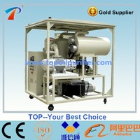 ZYD CE certified used insulating transformer oil purifier machine, high efficiency of dewatering, bdv improving