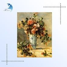Custom High Quality Hot Sale flower oil painting on canvas
