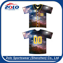 Best Selling Custom Made Button Front Baseball Jerseys with 6-Buttons