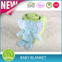 alibaba china supplier Famous Brand 100% polyester baby blanket with applique