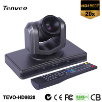 TEVO-HD9820 1080p realtime 20x optical zoom high speed hd Web Video Conference System & auto Conference camera all in one