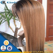 good quality 180 density virgin peruvian ombre human hair full lace wig manufacturers