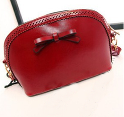 Pretty lady bowknot leather PU hand bags 2016 wholesale fashion funky new trend leather bag